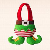1個クリスマスエルフの子供のためのブートキャンディバッグ装飾家の休日のパーティとの素敵な贈り物