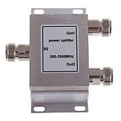 2-way n žena dělič výkonu splitter 380-2500mhz pro mobilní telefon signál booster opakovače