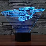 軍艦タッチ調光3dが主導スターウォーズ夜の光7colorful装飾雰囲気ランプノベルティ照明クリスマスライト