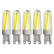 G9 Luces LED de Doble Pin T 4 COB 350 lm Blanco Cálido Blanco Fresco Regulable AC 100-240 V 5 piezas