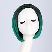 女性 ブラック ヘア オンブル髪 ボブ・ヘアカット 合成 機械製 コスプレ用ウィッグ