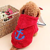 Gato Cachorro Camisola com Capuz Roupas para Cães Fofo Mantenha Quente Marinheiro Branco Cinzento Rosa Vermelho Azul