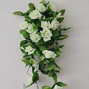 1 1 Větev Polyester / Umělá hmota Růže Květina na zeď Umělé květiny 94.4inch/240cm