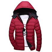 コート レギュラー パッド入り メンズ,カジュアル/普段着 ソリッド コットン 中綿なし 長袖