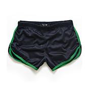 Shorts De los hombres Un Color Casual / Deporte-PoliésterNegro / Azul / Blanco / Amarillo