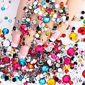 2000pcs Nail Art Decoración Las perlas de diamantes de imitación maquillaje cosmético Nail Art