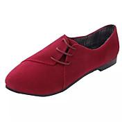 Mujer Zapatillas de deporte Confort Primavera Otoño Invierno Vellón Casual Con Cordón Tacón Plano Negro Beige Amarillo Rojo Azul2'5 - 4'5