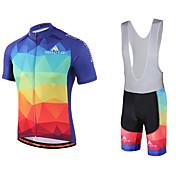 Miloto Maillot de Ciclismo con Shorts Bib Hombre Manga Corta Bicicleta Petos de deporte/Culotte con tirantes Camisas Sudadera