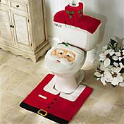 Feliz Navidad y feliz mejor regalo de Navidad nuevo año& decoraciones baño alfombra asiento del inodoro