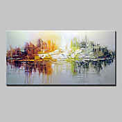 手描きの 抽象画 横長,Modern クラシック トラディショナル 1枚 キャンバス ハング塗装油絵 For ホームデコレーション