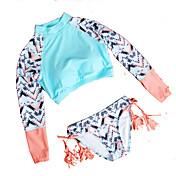 De las mujeres Bikini-Monocolor / Borlas / Floral / Color Único / Con LazoCon Cordones-Nailon / Poliéster / Espándex
