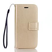 のために iPhone 7ケース / iPhone 7 Plusケース / iPhone 6ケース ウォレット / カードホルダー / スタンド付き / フリップ ケース フルボディー ケース ソリッドカラー ハード PUレザー AppleiPhone 7プラス /