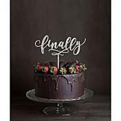 Figurky na svatební dort Nepřizpůsobeno Monogram Akryl Svatba Květiny Černá Klasický motiv 1 Dárková krabička