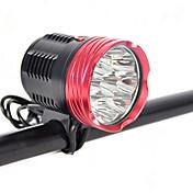 20000mah 18000lm 9x XM-L LED L2 montaje en bicicleta delante de la lámpara bicicleta luz de la bicicleta cabeza de la antorcha interruptor