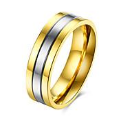 指輪 ジュエリー スチール ゴールド ジュエリー のために カジュアル 1個