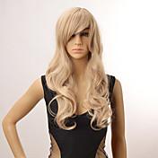 blonde farve lange krøllede parykker uden dæksel syntetisk parykker for afro kvinder
