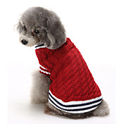 Gatos Perros Suéteres Ropa para Perro Invierno Bloques Casual/Diario Mantiene abrigado Navidad Rojo Azul