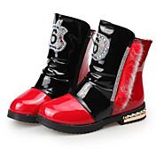 Para Meninas-Botas-Conforto Botas de Neve-Rasteiro-Rosa Vermelho Branco-Couro Ecológico-Social Casual