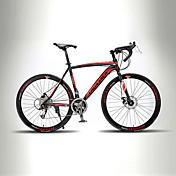 ロードバイク サイクリング 21スピード 26 inch/700CC TX30 BB8 ダブルディスクブレーキ ノーダンパー モノコック ハードテールフレーム 普通 アルミニウム合金