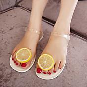 Mujer Zapatos PVC De Goma Sandalias Para Casual Blanco Negro