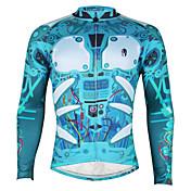 ILPALADINO Cykeltrøje Herre Langt Ærme Cykel TrøjeHurtigtørrende Ultraviolet Resistent Åndbart Komprimering letvægtsmateriale Refleksbånd