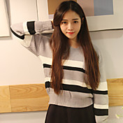 秋と冬のファッションビッグヤードの韓国語バージョンに署名カラーVネック長袖セーターのコート暖かい穴を打ちます