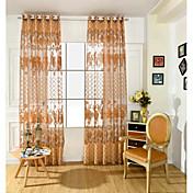 Un Panel Ventana Tratamiento Neoclasicismo Europeo , Flor Sala de estar PVC Material Sheer Cortinas Cortinas Decoración hogareña For