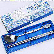 Rustfrit Stål 304 spisepinde Chopstick 4 Stykker