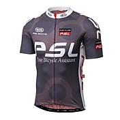Maillot de Ciclismo Hombre Manga Corta Bicicleta Camiseta/Maillot Tops Secado rápido Resistente a los UV A prueba de radiaciones Listo