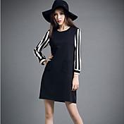 Mujer Vaina Vestido Formal / Trabajo / Tallas Grandes Simple / Bonito / Chic de Calle,Un Color / Bloques Escote Redondo Sobre la rodilla