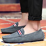 HombreConfort-Zapatos de taco bajo y Slip-Ons-Informal-Cuero de Napa-Negro Gris Rojo Azul