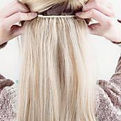 """16 """"-24"""" de espesor completo de una pieza 5 clips en la extensión del pelo humano 120g"""