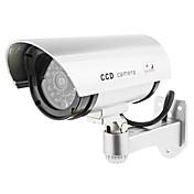 kingneo 2個の白色無線偽ダミードームCCTVセキュリティカメラはLEDライト