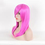 Mujer Pelucas sintéticas Corto Liso Rosa Peluca natural Peluca de Halloween Peluca de carnaval Las pelucas del traje