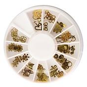 60PCS Golden Soft Metal Nail Art Dekoracije setove