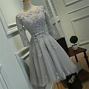 Haljina haljina kugla duljina koljena duda tulipana koktel party haljina s vrpcom
