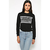 アマゾンeBayのAliexpressの文字が長袖セーターTシャツを印刷します