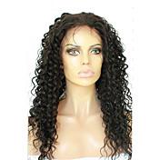 女性 人毛レースウィッグ 人毛 フロントレース グルテンフリーレースフロント 120% 密度 ディープウェーブ かつら ブラック ショート丈 ミディアム丈 ナチュラルヘアライン 黒人女性用 100%手作業縫い付け