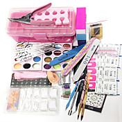 25sets herramientas de 12 colores del polvo del brillo del flash de láser talla patrones de color 12 12 de color diseños de puntas de uñas