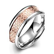 指輪 ステンレス鋼 チタン鋼 ファッション ゴールデン ジュエリー 日常 カジュアル 1個