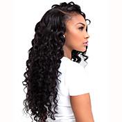 Longo Enrolado Preto sintética l perucas parte do laço quentes de calor de alta qualidade de cabelo sintético de fibra resistente para as