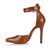 Mujer-Tacón Stiletto-Tira en el Tobillo-Tacones-Oficina y Trabajo Fiesta y Noche Vestido-PU-Camello