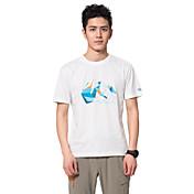 Hombre Camiseta para senderismo Transpirable Antibacteriano Camiseta Tops para Camping y senderismo Pesca Escalada Ejercicio y Fitness
