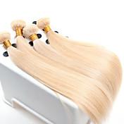 pelo virginal recta, 4 PC / ventas al por mayor del pelo europeo recto teje el color 613