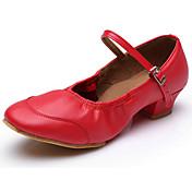Zapatos de baile(Negro Rojo) -Moderno-Personalizables-Tacón Plano
