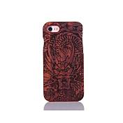 Para Antigolpes En Relieve Diseños Funda Cubierta Trasera Funda Dibujos Dura Madera para AppleiPhone 7 Plus iPhone 7 iPhone 6s Plus/6