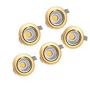 5pcs 5W 220-240V mazorca de oro llevado abajo de luz de techo empotrada