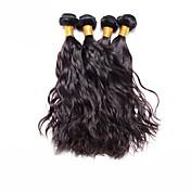 人間の髪編む ブラジリアンヘア ナチュラルウェーブ 4個 ヘア織り