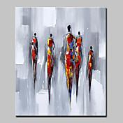 Ručno oslikana Sažetak Ljudi Vertikalno,Moderna Europska Style Jedna ploha Platno Hang oslikana uljanim bojama For Početna Dekoracija