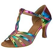 Dansesko(Regnbue) -Kan tilpasses-Personligt tilpassede hæle-Damer-Salsa